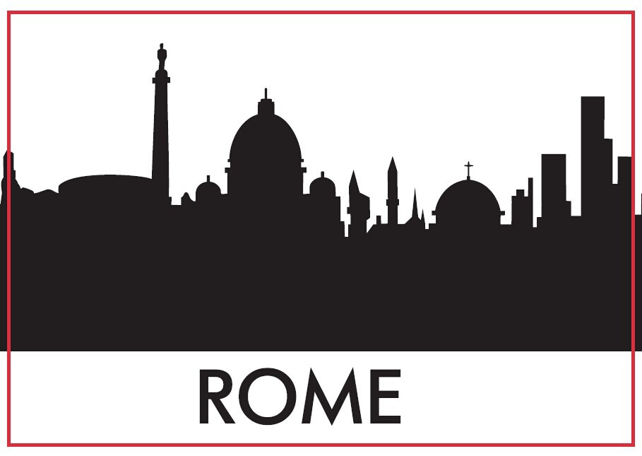 Rome Skyline Souvenir Fridge Magnets 20406,Souvenir Italian Rome Tourist rectangle Magnets  78*54*3mm