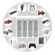 10PCS 4000mAh Ni-MH AA Battery NI-MH 1.2V Neutral rechargeable battery batteries Free shipping