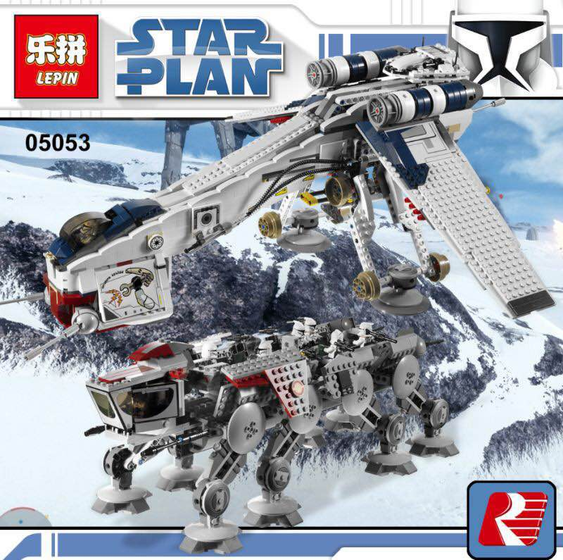 Lepin 05053 New Genuine Star Series The Republic Dropship Set Building Blocks Bricks for Children wars Toys kids gift 10195
