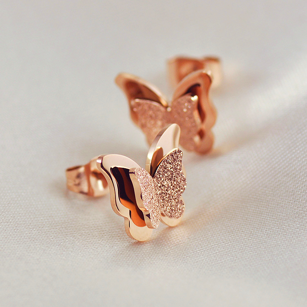 Rose gold Color Titanium Steel Jewelry Nickle Free Environmental