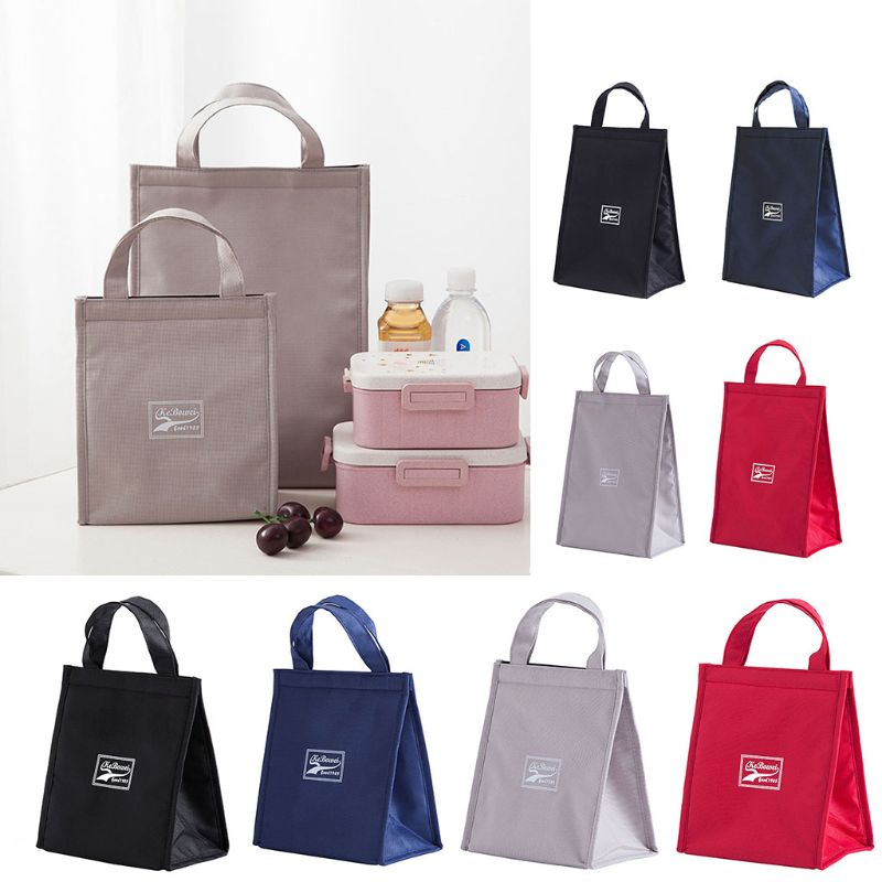 Portable Insulated Thermal Cooler Lunch Box Carry Tote Travel Picnic Lunch Bag