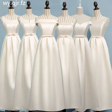 ASL XB#Boat Neck Champagne long Bridesmaid Dresses wedding party dress gown prom womens fashion cheap wholesale Women clothing