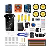KuongShun 4WD Bluetooth Multi functional DIY Smart Car kit +User Manual+PDF+ Video+screwdriver For DIY Robot Car Starter
