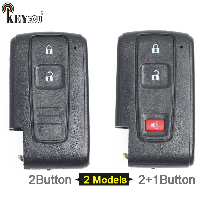 KEYECU for Toyota Prius Replacement Smart Remote Car Key Shell Case Fob 2/2+1 Button No Blade (Only Shell) цена