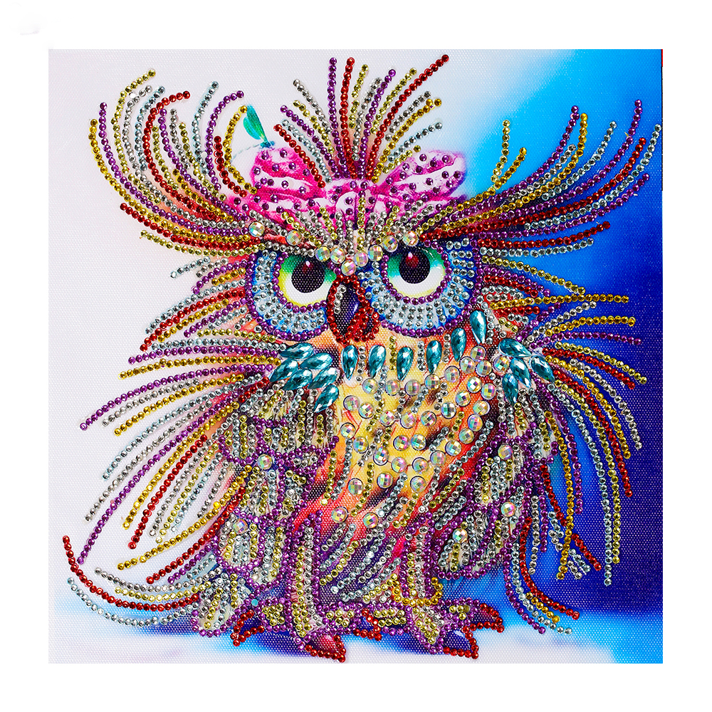 Special Shaped Diamond Painting Owl Handicraft Needlework 3d Drill Mosaic DIY Diamond Embroidery Animal