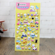 2pcs Kawaii 3d Cute Cat Cartoon Bubble Sticker Children font b Toy b font Nursery Collage
