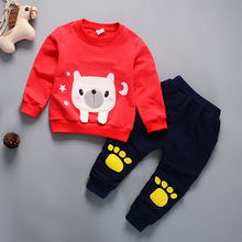 IENENS 2PC Children's Sets Kids Boy Casual Clothing Outfits Baby Toddler Infant Boys Clothes Suits Long Sleeves T-shirt + Pants kids tales jyt 180 baby boy clothes children kids boys long sleeves handsome suit sets casual design t shirts and pants wears