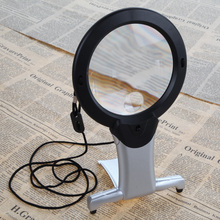 High Quality 2.5X100mm Neck Hung Hard Resin Lens LED Light Magnifier