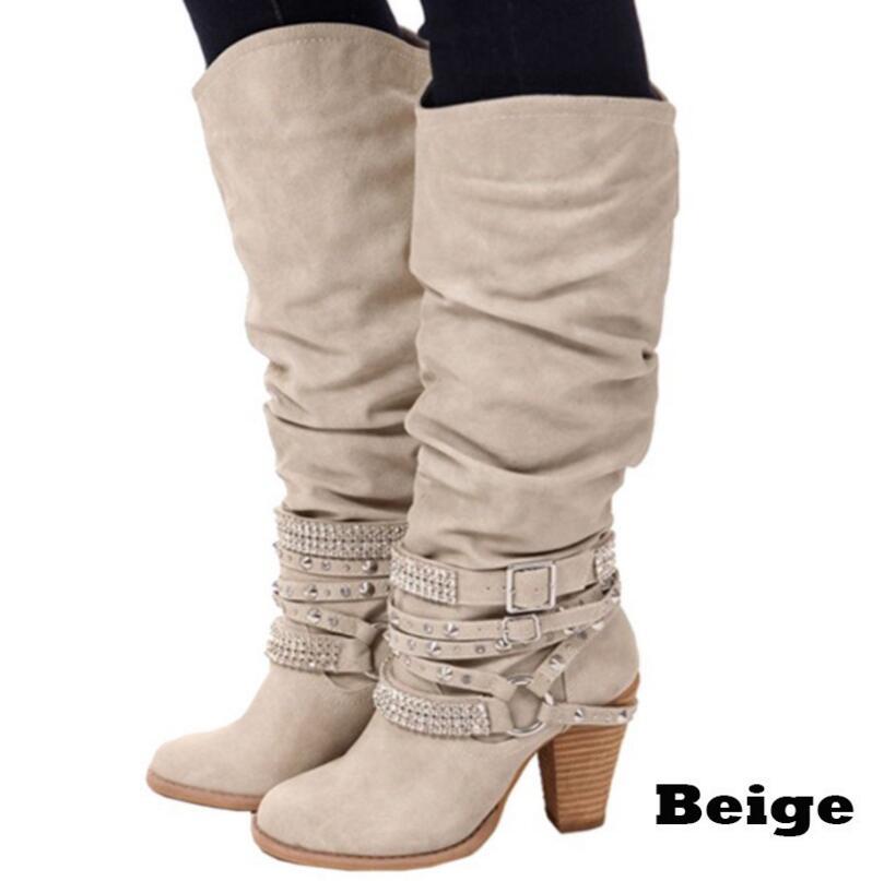 Rond Hauts Mujer Zapatos 1 Chaussures Mode 4 Hauteur Gothique Genou Talons picture Ceintures À Bottes L216 Joksd picture picture Bout picture Picture Strass 3 Femmes 5 New 2 Style Du Punk 7q6B0Un