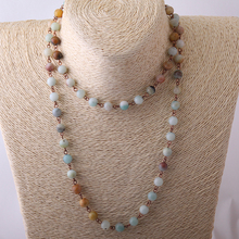 Chain Natural Stone Bead Necklace