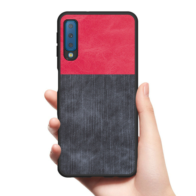 Fitted Cases Sweet-Tempered Vintage Fabric Case For Samsung Galaxy A9 A8 A7 A6 2018 Canvas Denim Leather Case For Samsung A6s A8s Plus 2018 Shockproof Cover Low Price