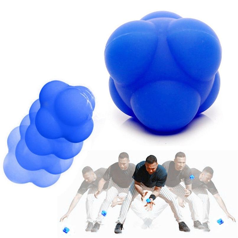 Hexagonal Ball Training Reaction Sport Silicone Basketball Supplies Fitness Training Exercise Reaction Elasticity Ball #2p02