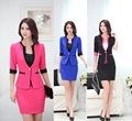 Formal Uniform Style Blazers Outfits 2015 Summer Professional Business Work Suits With Jackets And Skirt Ladies Office Set