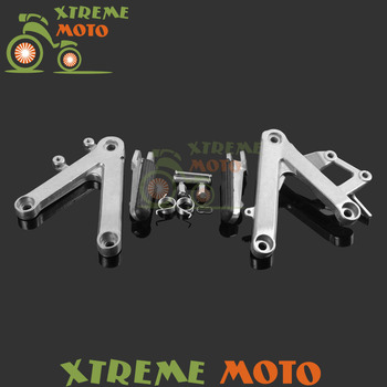 Motorcycle Front Rider Footrests Foot Pegs Rests Pedals Tripod Brackets Mount For Honda CBR 250 MC 22 90 91 92 93 94 95 96 97 Honda CBR250R