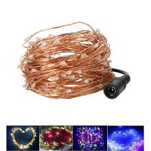 Christmas Tree LED 20M EU US Copper Wire String lights Waterproof LED Strip For Fairy Wedding Party Decoration Holiday lighting
