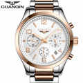 relogio masculino GUANQIN Watch Men Business Chronograph Date Luminous Wristwatch Mens Luxury Brand Stainless Steel Quartz Watch