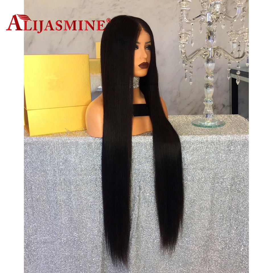 30Inch Long Lace Front Human Hair Wigs Straight Pre Plucked With Baby Hair Natural Color Peruvian Remy Lace Front Wig For Women-in Human Hair Lace Wigs from Hair Extensions & Wigs    3