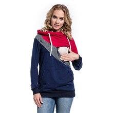 Женский свитер для грудного вскармливания для беременных кормящих зимняя одежда толстовка с капюшоном Верхняя одежда Топы Блузка Толстовка для беременных