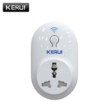 KERUI S72 Home Smart Socket WIFI App Remote Control Security WIFI Smart Socket For Home Appliance Scheuled Time Setting Outlet cheap CN(Origin) White Phone APP Remote Control Appliances IOS Android Wi-Fi 2 4GHz b g n WiFi smart socket plug AC100V~250V 50Hz