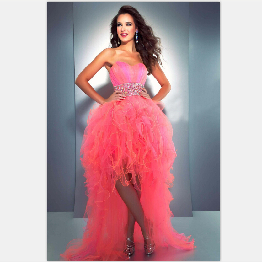 Popular Neon Pink Prom Dresses-Buy Cheap Neon Pink Prom Dresses ...