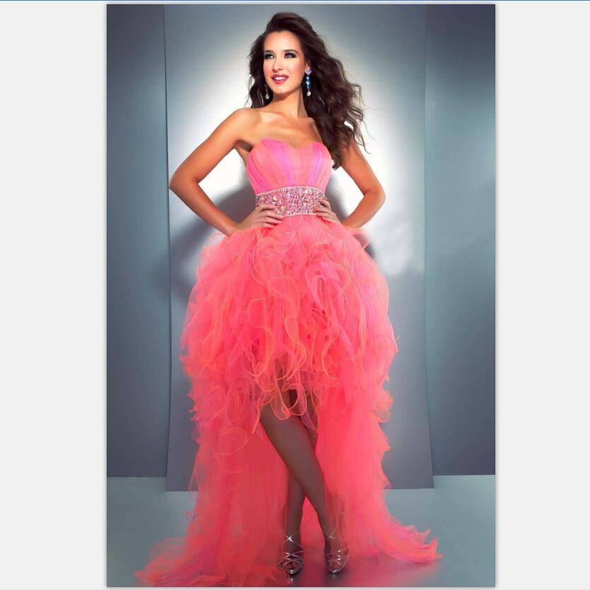 Neon Pink Prom Dress Dress Yp