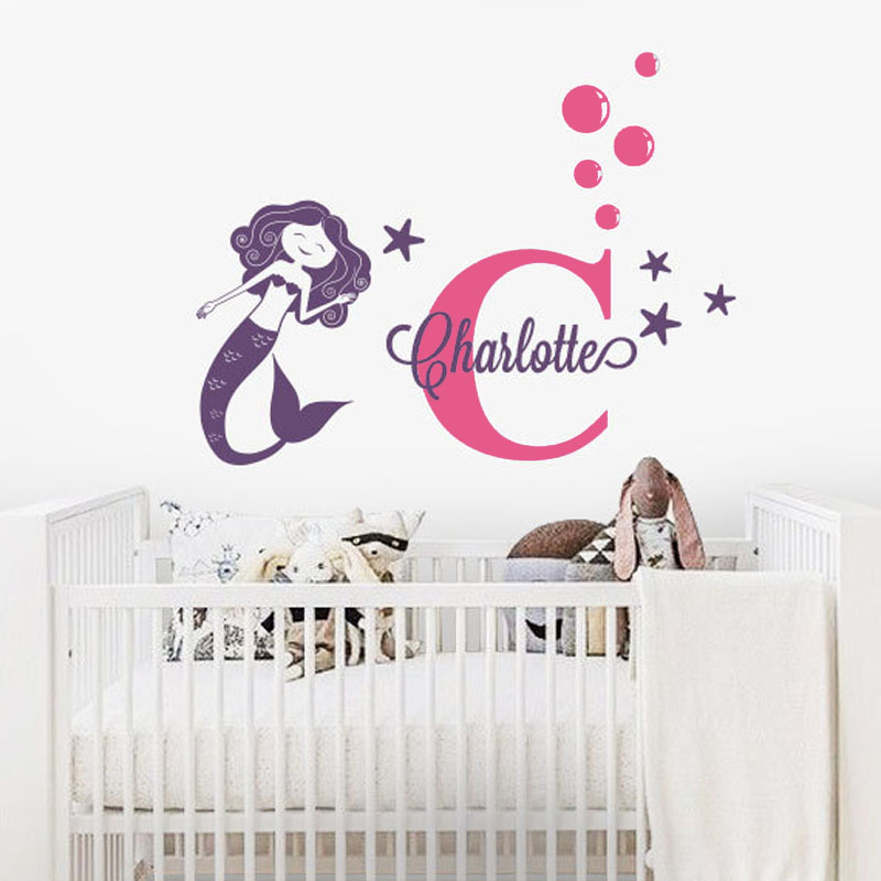 online buy wholesale mermaid wall decor from china mermaid wall murals for kids quality wall murals for kids for sale