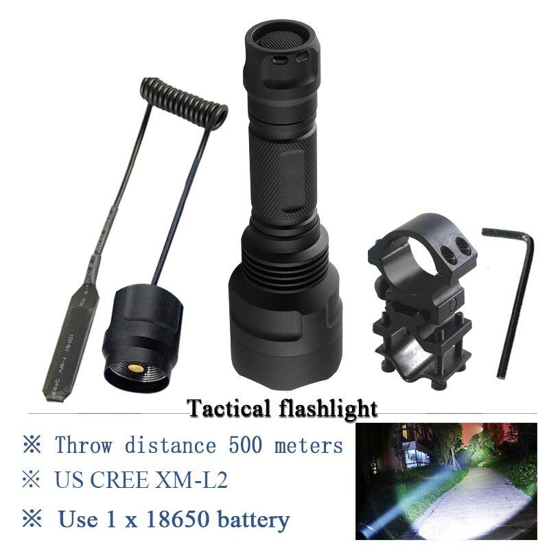 tactical flashlight self defense xml t6 l2 led flash light waterproof torch 18650 Battery search lanterna for hunting zaklamp
