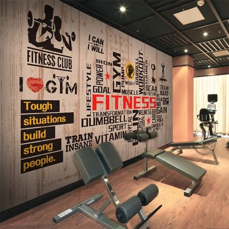 Beibehang Custom Wallpaper 3d Murals Sports Gym Large Mural Living Room Bedroom Restaurant Wall Papers Home Decor 3d Wallpaper