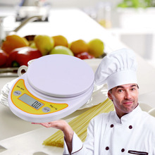купить WH-B04 5kg/1g LCD Digital Electronic Kitchen Scale for Food Balance Weighing по цене 162.36 рублей