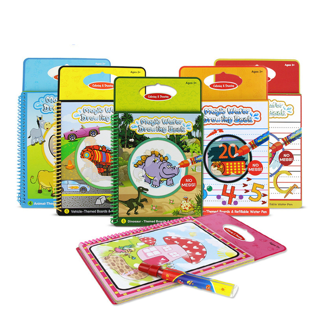 Drawing Board With Magic Pen For Painting Kid Game Aqua Coloring Book Doodle Sketchers Scratch
