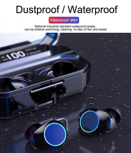 Image 2 - TWS Bluetooth 5.0 G02 Stereo Earphone IPX7 Waterproof Wireless Earphones Auto Pairing Bluetooth Earphone Sports Headset 3300mAh
