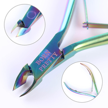 BORN PRETTY 1Pc Nail Cuticle Nipper Rainbow Clipper Scissor Dead Skin Remover Manicure Nail Art Tool