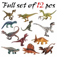 Certified Goods 12pcs Large Dinosaurs Models Set 1/6 3D PVC Animals Display Jurassic Action Figures Anime Toy For Children Kid