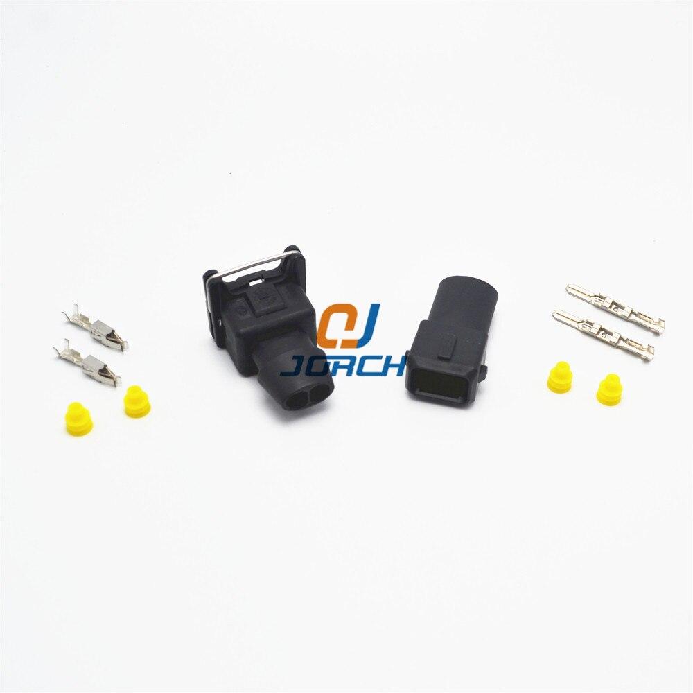 Automotive Waterproof 2 Pin Way Electrical Wire Connector TE Tyco Automobile EV1 Fuel Injuctor Plug
