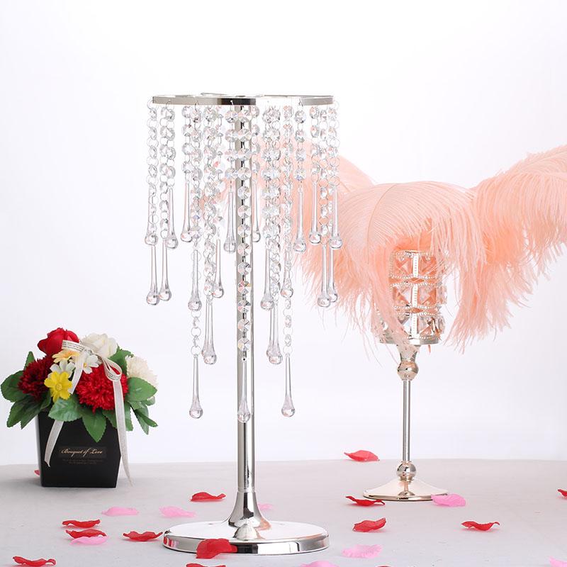 8 pièces/ensemble Europe argent plaque cristal fleur vases pour les mariages partie route plomb décoration métal vase décoration maison HP073
