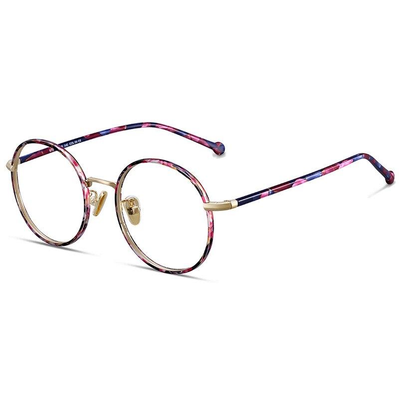 Acetat Klar Computer Runde Hohe pink Optische Gläser Decorativenx Rahmen Blue Frau Qualität Brillen Mode 500XUT