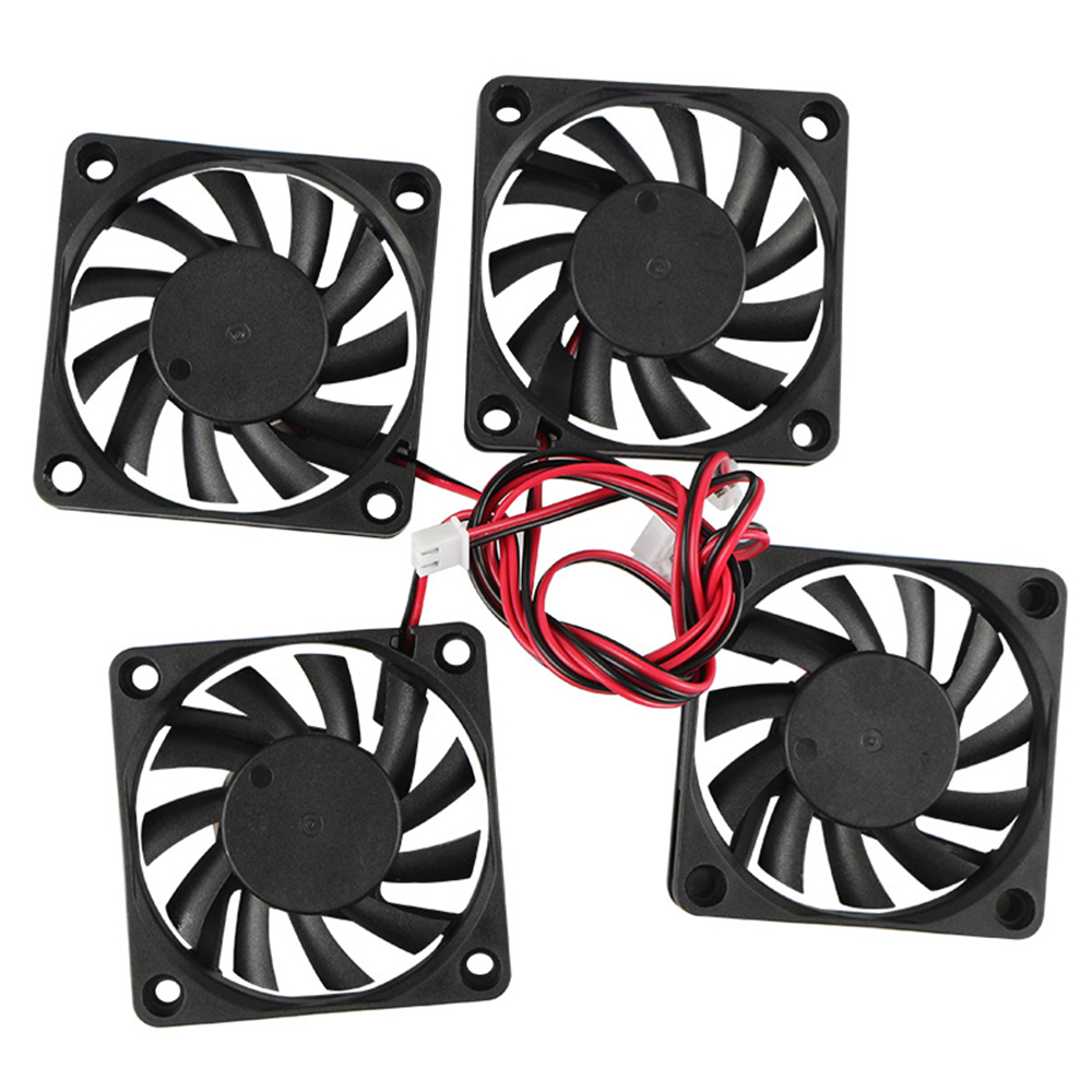 OpenBuilds 3D Printer Accessories <font><b>6010</b></font> <font><b>24V</b></font> Extruder Oil Bearing Cooling <font><b>Fan</b></font> 4PCS image