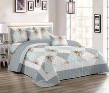 Comfortable high-grade cotton bedding quilted bed cover 220 * 240 double floral mosaic