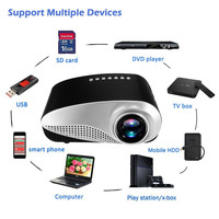 Hot Selling Mini Home Cinema Mini Portable 1080P 3D HD LED Projector Multimedia Home Theater USB
