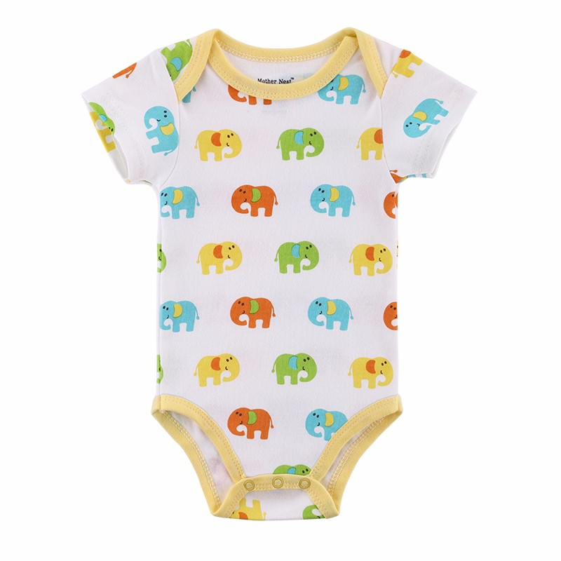 3 Pieceslot Fantasia Baby Bodysuit Infant Jumpsuit  Overall Short Sleeve Body Suit Baby Clothing Set Summer Cotton (2)