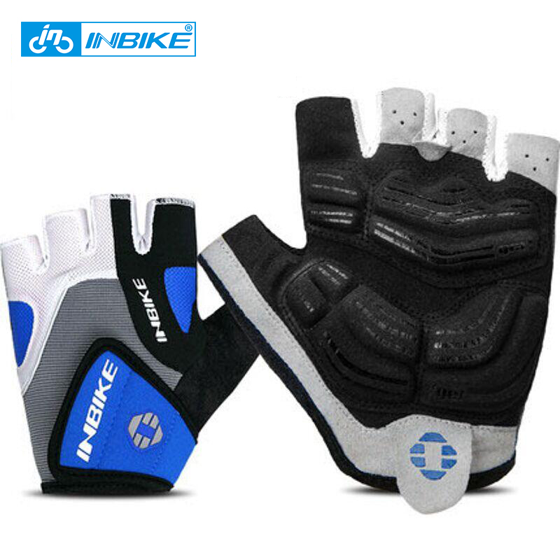 INBIKE Cycling Gloves Half Finger Bicycle Gloves Bike Gel Pad Racing Biking Gloves guantes ciclismo luva guantes bisiklet IF239 цена