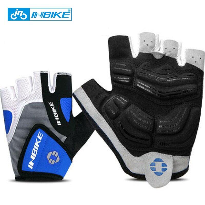 INBIKE Radfahren Handschuhe Half Finger Fahrrad Handschuhe Fahrrad Gel Pad Racing Radfahren Handschuhe guantes ciclismo luva guantes bisiklet IF239