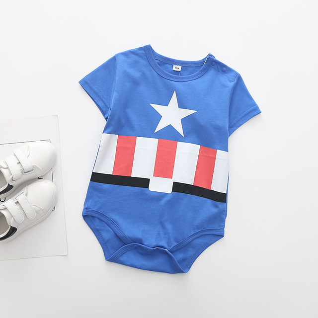 Superman Summer Baby Rompers Newborn Baby Boy Girl Romper Short sleeve Jumpsuit Clothes Baby Clothes Cotton Outfits 0-18M 6