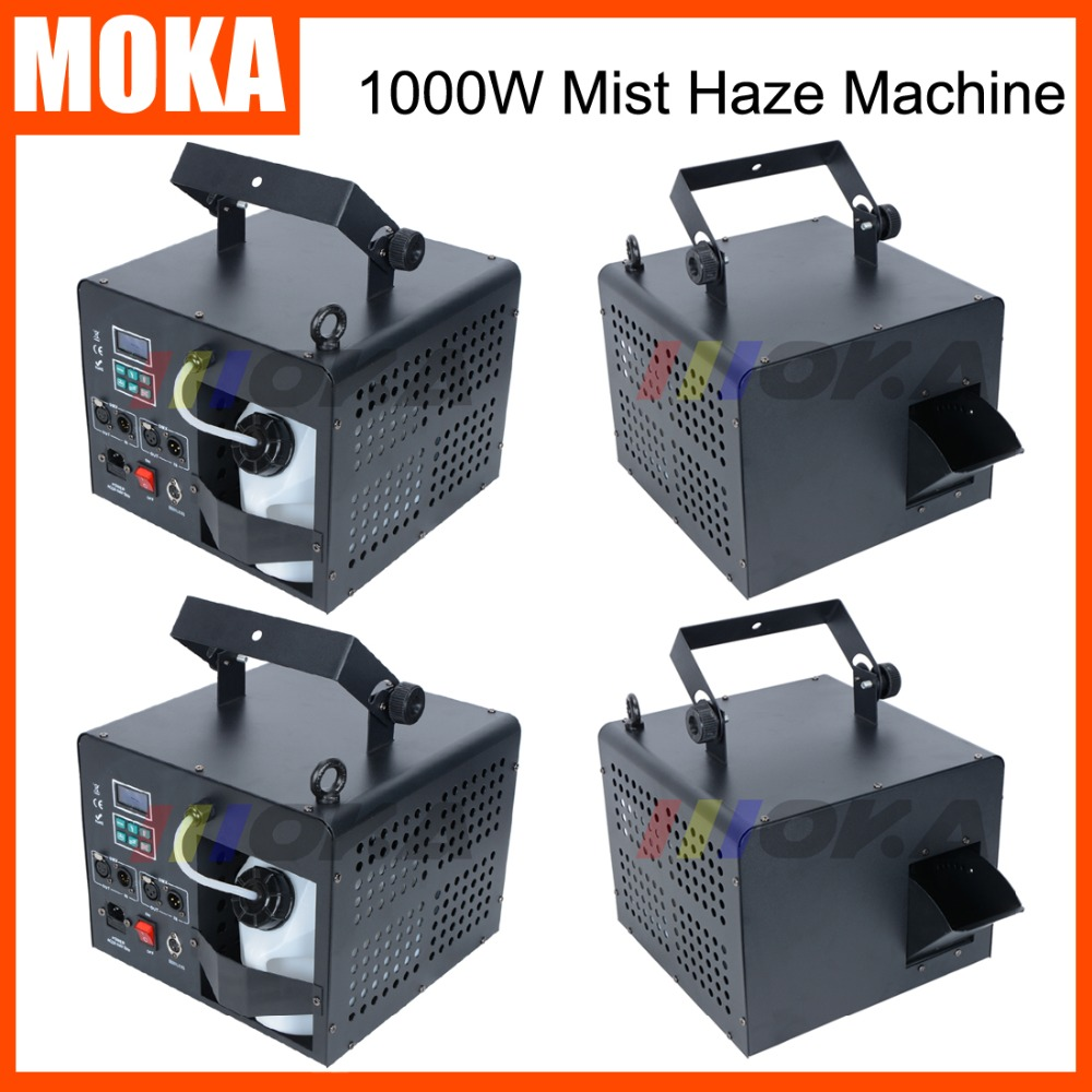 4 Pcs/lot stage smoke machine remote control 1000w mist fogger thin fog machine dmx 2 channels Smoke Output 3500cu.ft / min