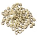 80-100pcs Silicone Lined Micro Rings Beads Loops Tip Hair Clips Hair Extensions 5mm Beige Color Wholesale Free Shipping
