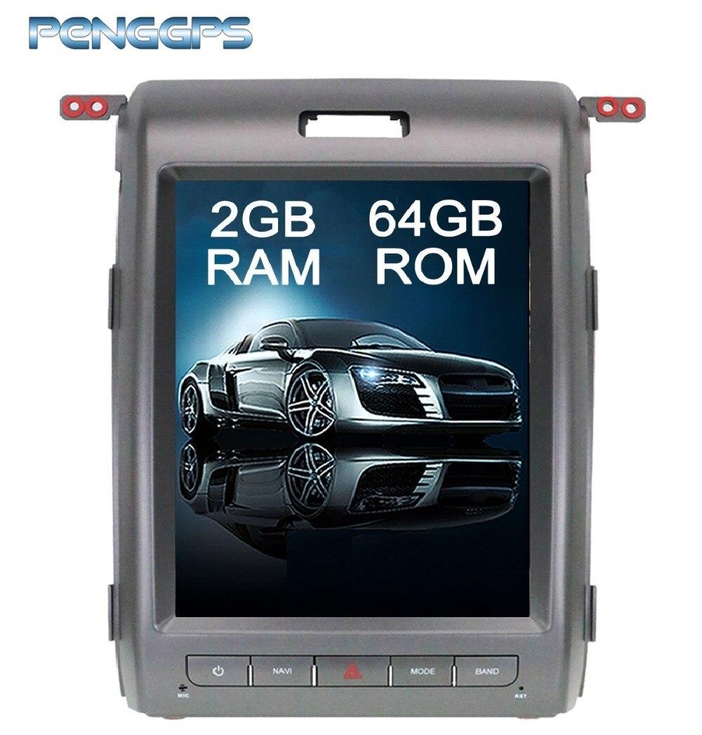Tesla Style 10.4 pouce Android 6.0 Voiture GPS Navigation DVD Lecteur Unité pour Ford F150 2009 2010 2011 2012 2013 2014 Double Din Unité