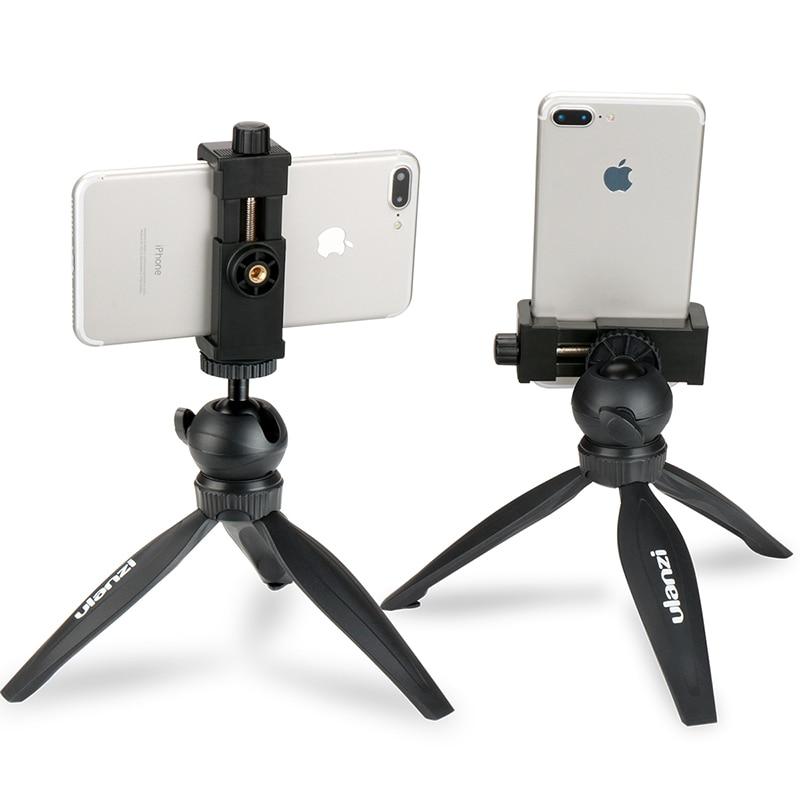Ulanzi Mini Phone Tripod Tabletop Smartphone Mount Clip Holder Stand W Detachable Ballhead For IPhone X/8/7 Plus Huawei Xiaomi