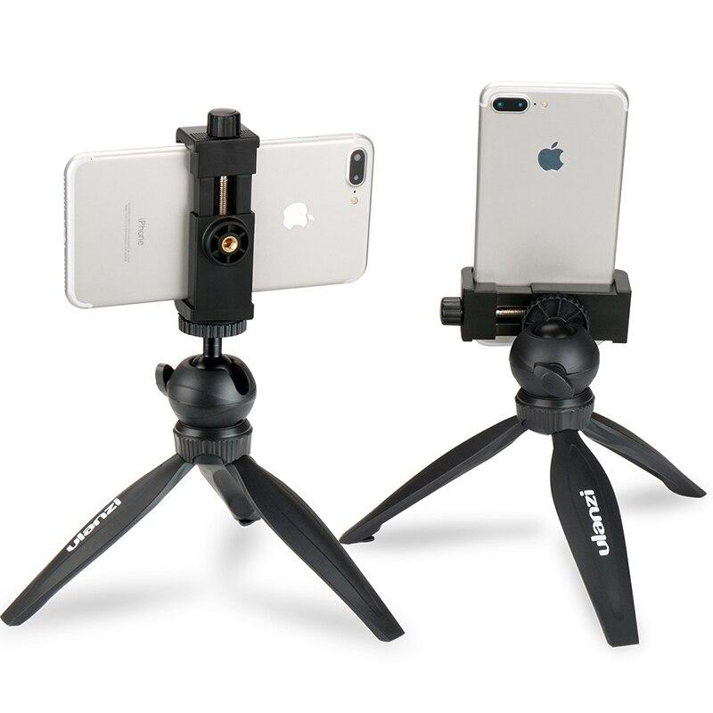 Ulanzi Mini Telefon Stativ Tabletop Montieren Smartphone Clip Halter Stehen w Abnehmbare Kugelkopf für iPhone X/8/7 plus Huawei Xiaomi