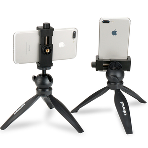 Image 1 - Ulanzi Mini Telefon Stativ Tabletop Montieren Smartphone Clip Halter Stehen w Abnehmbare Kugelkopf für iPhone X/8/7 Plus Huawei xiaomi