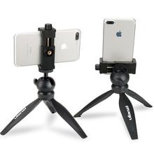 Ulanzi Mini trípode de mesa para teléfono móvil, soporte de Clip con cabeza de bola desmontable para iPhone X/8/7 Plus, Huawei y Xiaomi